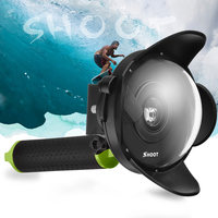 New Diving Dome Port For Xiaomi Yi Action Camera Portable Underwater Photography Lens Housing Monopod Accessory