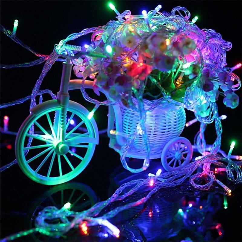 3m 30 led battery operated led string lights for xmas garland party wedding decoration christmas flasher - Christmas Light Flasher Plug