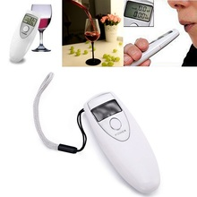 Portable Digital Breath Alcohol Tester Quick Response Mouthpieces For Professional Detector