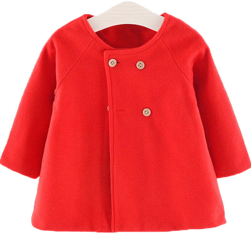 Baby Girl Boys Spring Winter Wool Blends Jacket Coat Clothes Infant Toddler Christmas New Years Costume Blend Clothing Outerwear 4