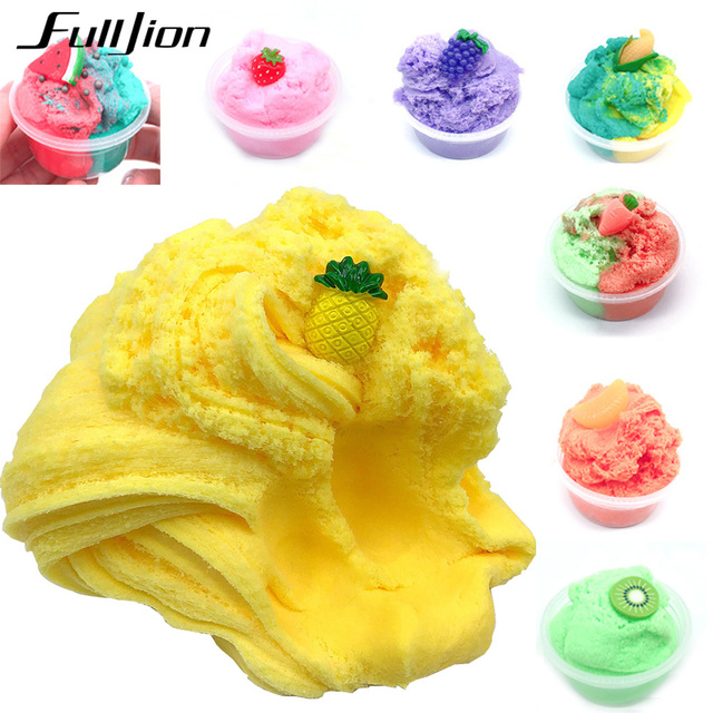 Us 1 9 30 Off Fulljion Slime Popular Toys Colorful Fluffy Fruit Soft Clay Release Stress Cotton Mud Diy Funny For Children Learning Education In