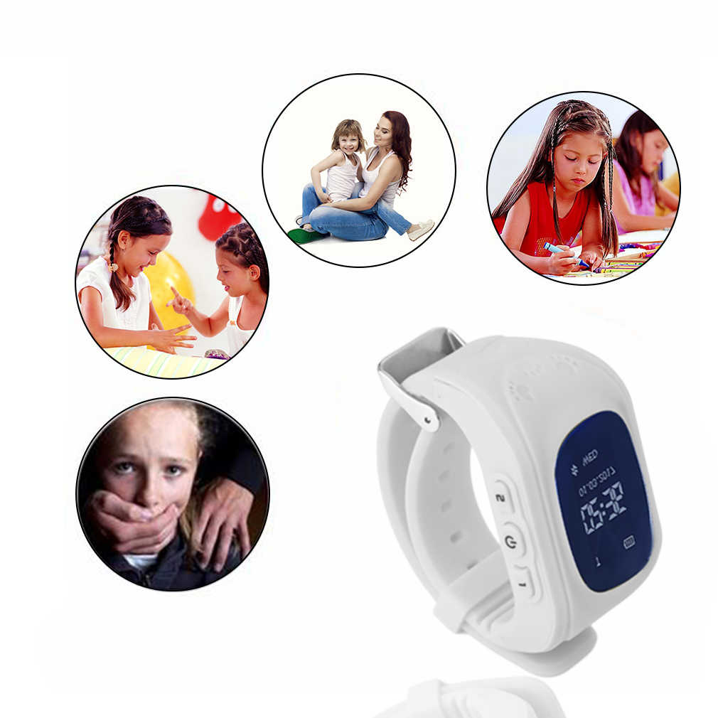 Q50 Children Kids Smart Watch Accurate Locator Tracker Emergency Anti-Lost LBS Positioning Baby Kids Smart Watch For Android A40