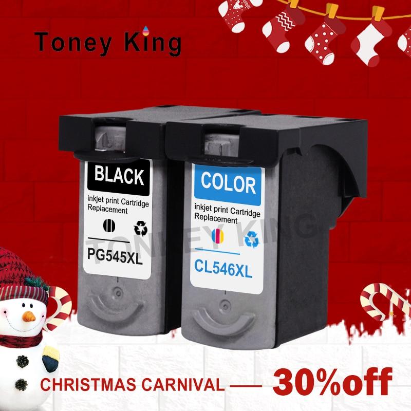 Toney Roi PG 545XL Cartouche D'encre PG545XL CL546XL CL 546XL Pour Canon pixma IP2800 IP2850 MG2400 MG2450 imprimante cartouches