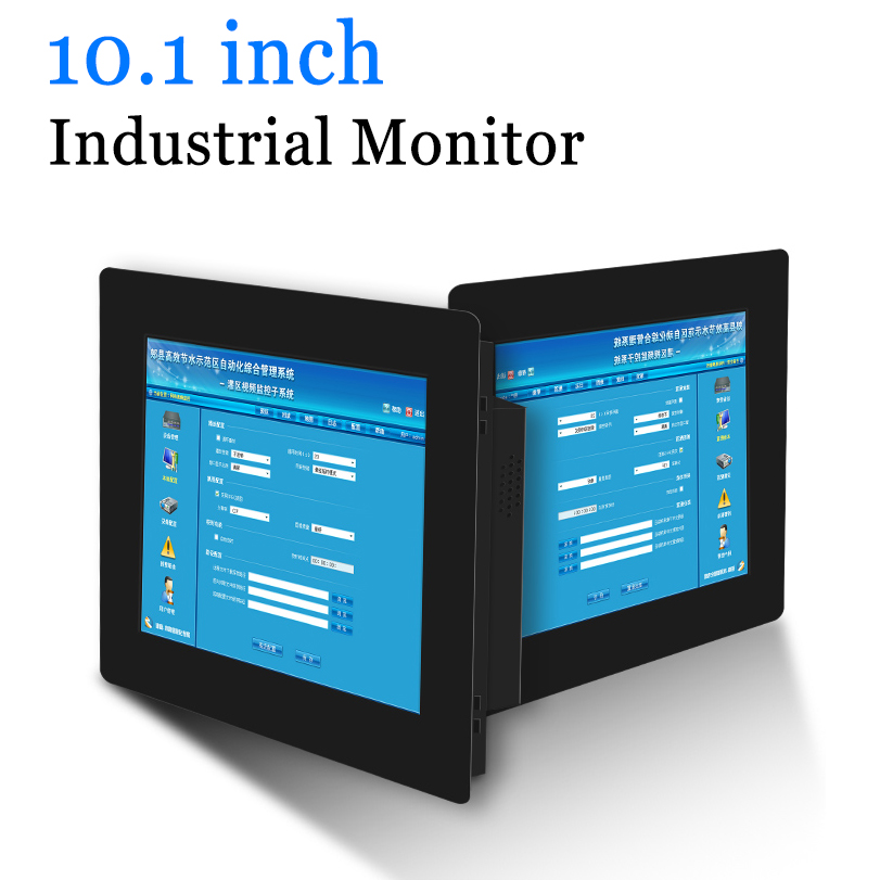 10.1 inch Clip-on Computer LED Monitor Industrial Monitor Portable Display with HDMI DVI VGA AV Output