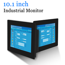 10.1 inch Clip on Computer LED Monitor Industrial Monitor Portable Display with HDMI DVI VGA AV Output