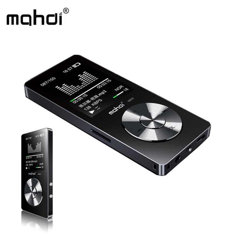 マハディ M220 金属ミニ MP3 ハイファイデジタルオーディオプレーヤーブラックポータブル車 MP3 スポーツ音楽プレーヤーサポートスピーカー FM ラジオ電子書籍
