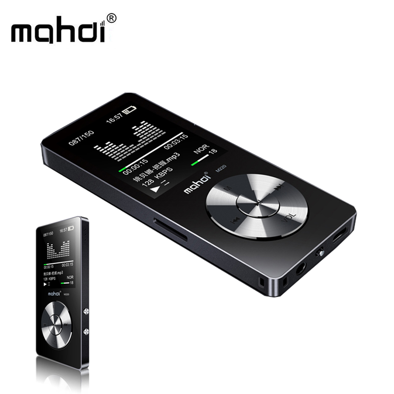 Mahdi M220 Metal Mini MP3 HIFI Digital Audio Player Black Portable Car MP3 Sports Music Player Support Speaker FM Radio E-book
