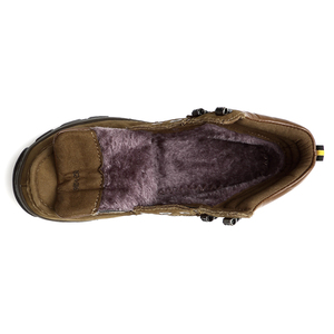 Image 5 - 2020 גברים של חורף מגפי שלג נעליים יומיומיות אמיתי עור קרסול אתחול איש גדול גודל 38 47 נעל אדמת עץ צבאי מגפי גברים