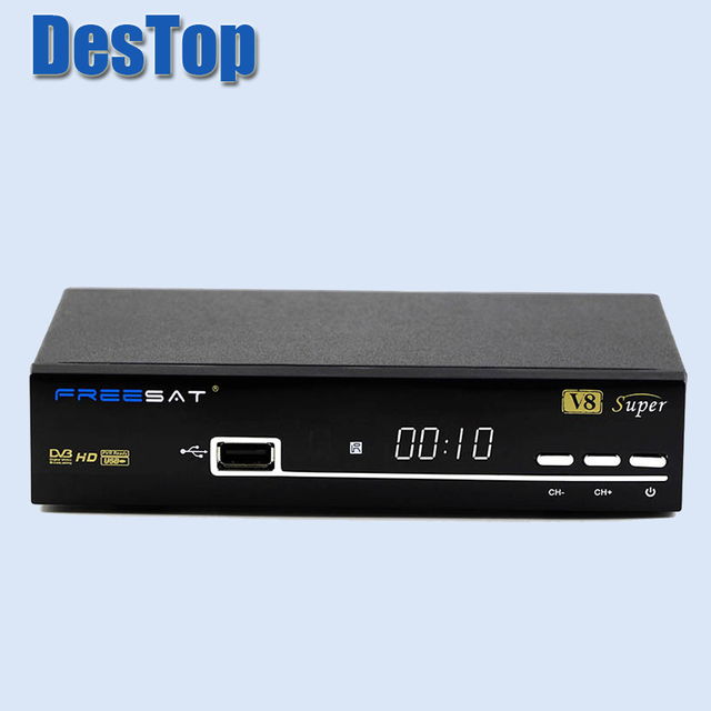 [Genuine] V8 Super DVB-S2 Satellite TV Receiver Support PowerVu Biss Key Cccamd Newcamd Youtube Youporn USB Wifi Set Top Box 5pc