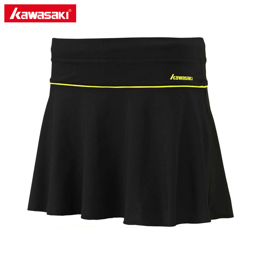 KAWASAKI Pleated Women's Tennis Skirt Quick Dry Running Cycling Fitness Skort for Girls Sports Skirts White Black SK-16275