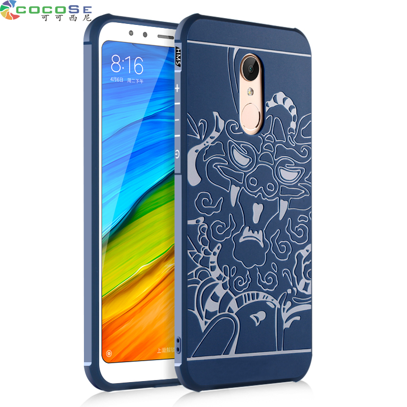 Luxury Silicone Case For Xiaomi Redmi 5 Plus Original COCOSE 3D Carved Coque Shockproof Phone Back Cover for Xiaomi Redmi5 5plus