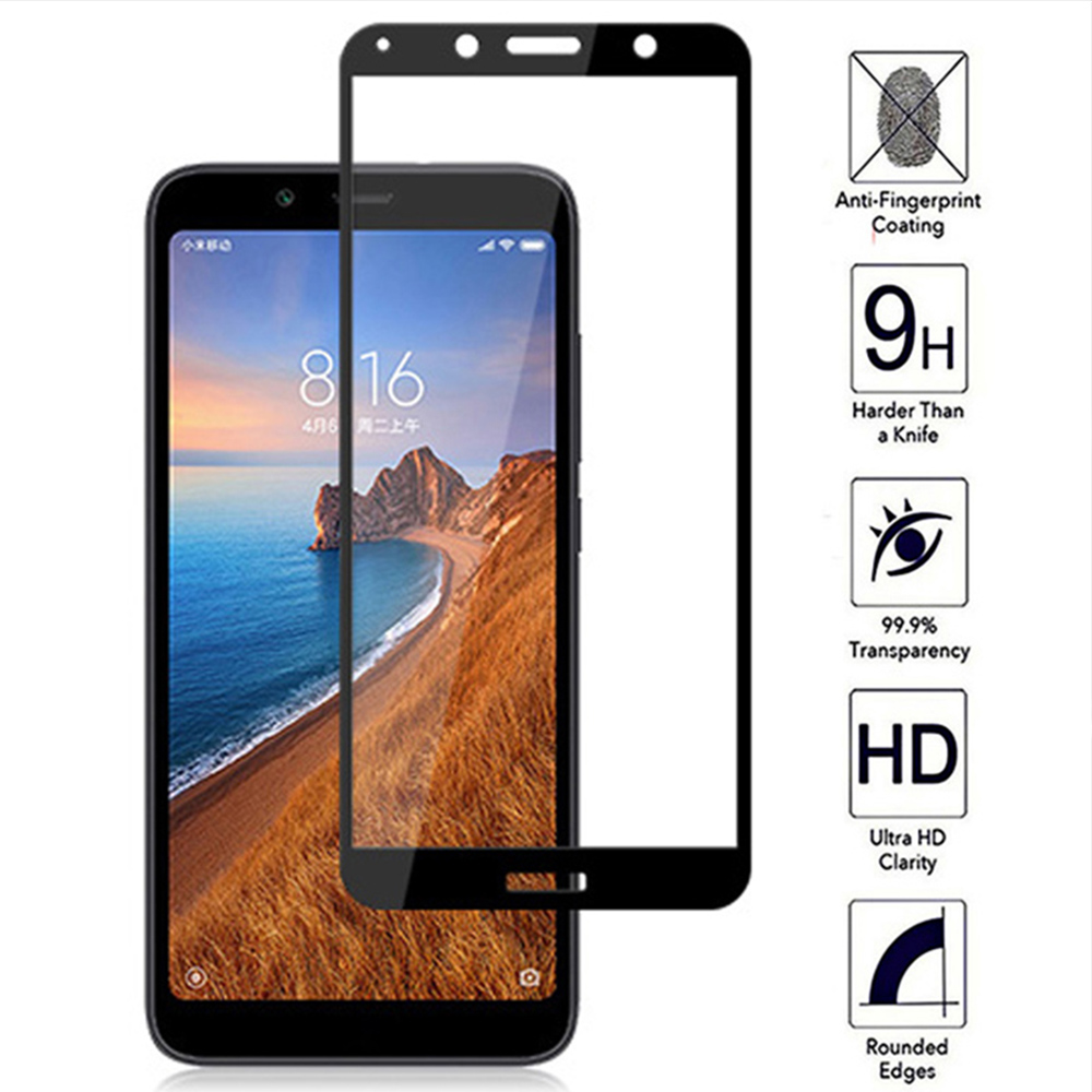 For Redmi 7A Tempered Glass Full Screen Protecor Glass Fillm For Xiaomi Redmi 7 A Protective Glass Full Screen Protection Cover