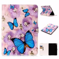 For New Ipad 2017 9 7 Inch Print Smart PU Leather Case For Apple Ipad 8