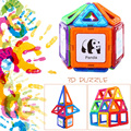 80 unids mágico imán niños juguetes educativos bloques de construcción de lujo DIY ladrillos para niños juguetes educativos Sets Kits juego juguetes
