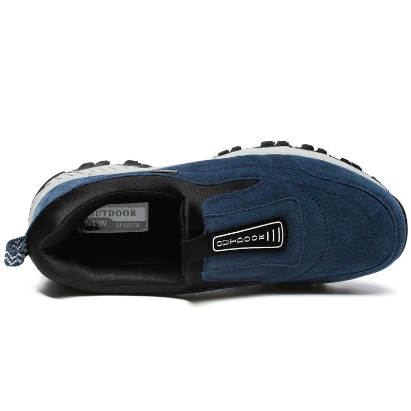 Pele Caminhadas botas Botas gray Ao blue Inverno Moda Casuais Black Homens Quente Livre De Ar Dos Rebanho Tornozelo Sapatos q7x7Rtvrw