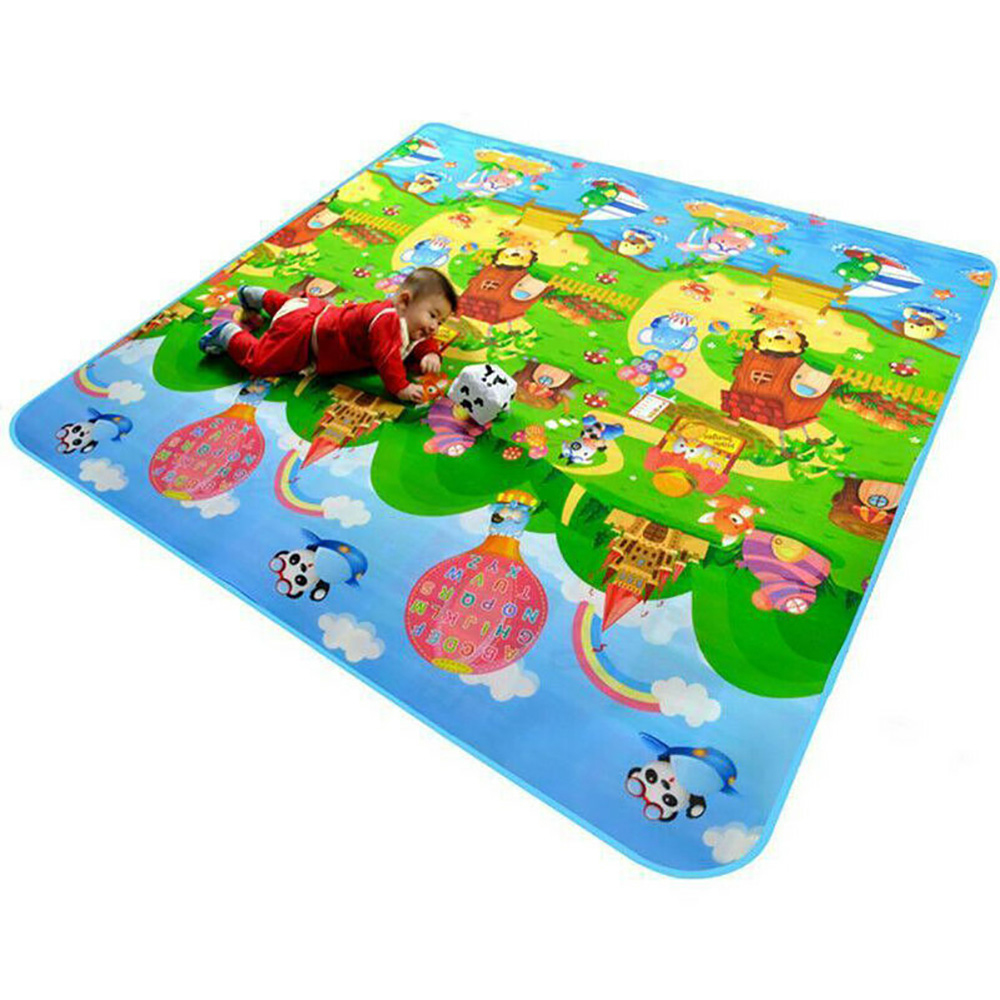 HTB1i2JreoCF3KVjSZJnq6znHFXaT Waterproof Floor Kids Developing Play Mat Rug Child Infant Baby Kid Crawling Game Mat Two-Side Play Puzzles Baby Carpets Toys