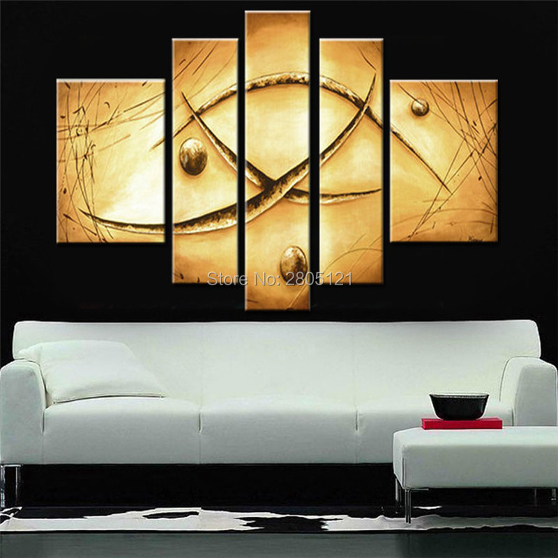 Hand painted Abstract earthtone oil painting vintage wall painting ...