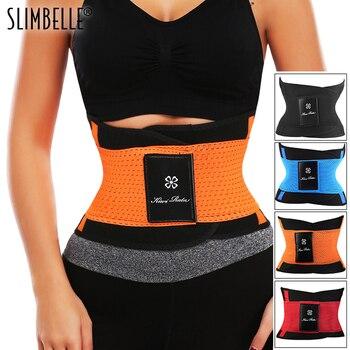 Women Men Fitness Belt Xtreme Power Thermo  Sweat Body Shaper Waist Trainer Trimmer Corset Wrap Workout Shapewear Slimming