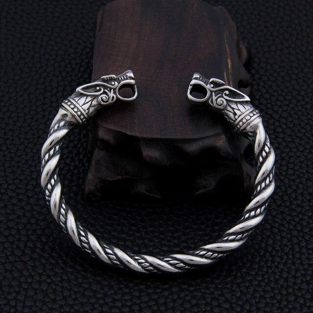 b63f809e641 stainless steel Dragon Bracelet Jewelry Fashion Accessories Viking Bracelet  Men Wristband Cuff Bracelets For Women Bangles