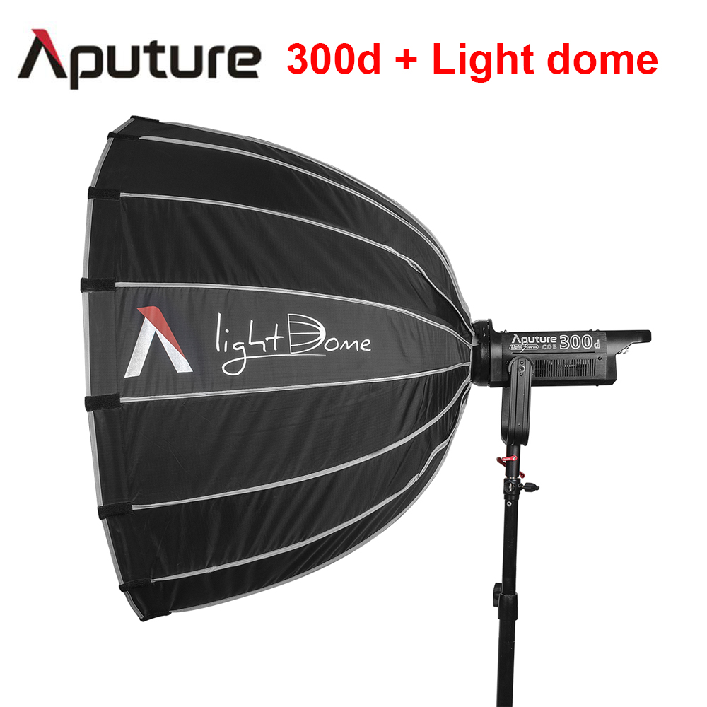 Pre order Aputure LS C300d + Light dome TLCI 96+ COB shooting led light Bowens mount 2K tungsten light outdoor led studio light aputure light dome mini soft box flash diffuser for light storm 120 and cob 300 series bowens mount led lights