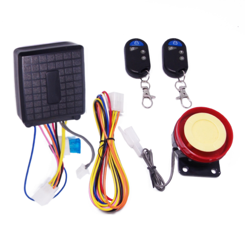 Motorcycle Anti-theft Security Alarm System DC 12V Motorbike Bike Moto Alarm With Remote Control Scooter Motor Engine Start Horn