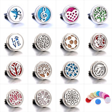 15 styles NEW Detachable car aroma diffuser Flower Fairy Stainless Freshener Essential Oil Diffuser Car Clip Aromatherapy locket