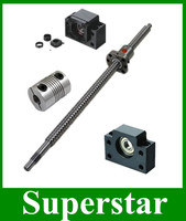 1pc antibacklash ball screw SFU1605 L350mm C7+ BK12 BF12 + 6.35*10mm coupler