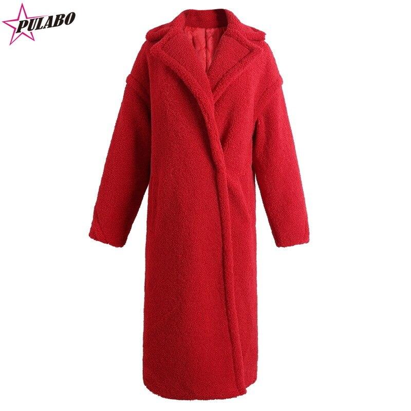 manteau femme long avec doublure rouge