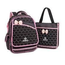Bolso de escuela los niños set chica mochila coreana del bowknot de las muchachas bolsas escuela niños mochilas para adolescentes niñas mochilas ortopédicos