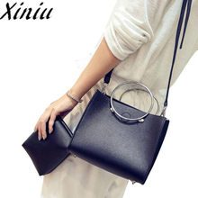 Xiniu 2PC Composite Bags Clutch baobao women shoulder messenger shoulder Hobo New Arrival Women Handbag bag Drop shipping #WS(China)
