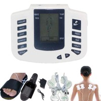 New Electrical Stimulator Full Body Relax Muscle Therapy Massager Pulse Tens Acupuncture With Therapy Slipper 4pads