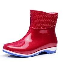 Bottes En Caoutchouc de femmes Échelle Films Motif Cheville Rainboots Étanche Talon Plat Rainning Chaussures Pour Femmes
