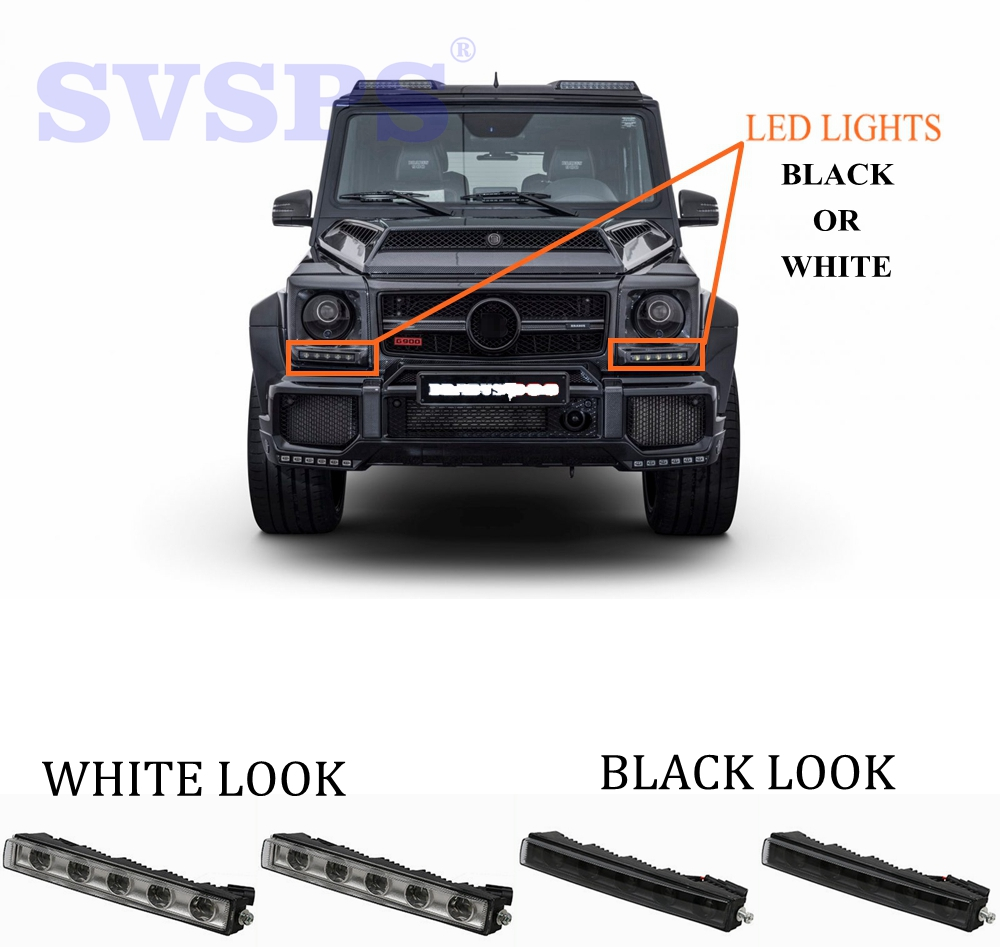 Tuning Auto parts 2 colors LED lights Lamps DRL fit For Mercedes Benz G class G500 G350 G63 G65 G800 1990 2017 YEAR CAR vehicle