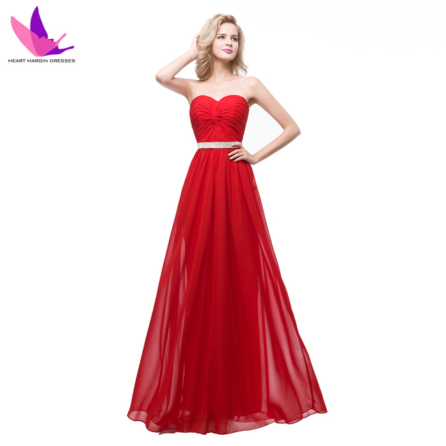 2016 New Design Special Occasion Formal Party Gowns Floor Length Chiffon Long Bandage Cheap Prom Dress Red Bridesmaid Dresses
