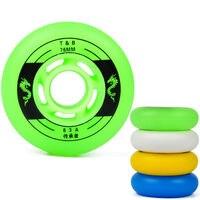 8PCS Set Roller Skate Wheels Milky White PU Inline Skating Wheels With Bearings Roller Skates Parts