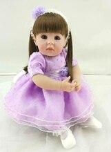 """Nova Chegada 20 """"50 cm Bebê Menina Bebe Reborn Lifelike Bonecas Feitas À Mão Boneca de Silicone macio Brinquedo Do Bebê Para Crianças presentes de natal"""