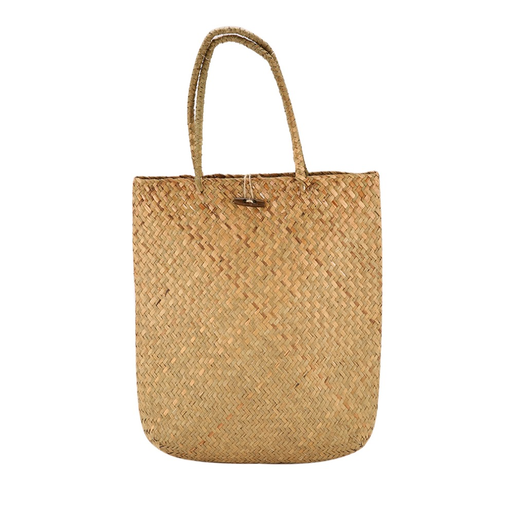 Women Summer Beach Tote Woven Bag Casual Female Lady Straw Knitted Shoulder Bag Best Gift For Girl Teenager bolsa feminina ...