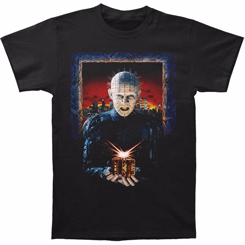T Shirts With Sayings Merchandising Mens Hellraiser Hell On Earth Mens T-Shirt Short O-Neck Office Tee For Men