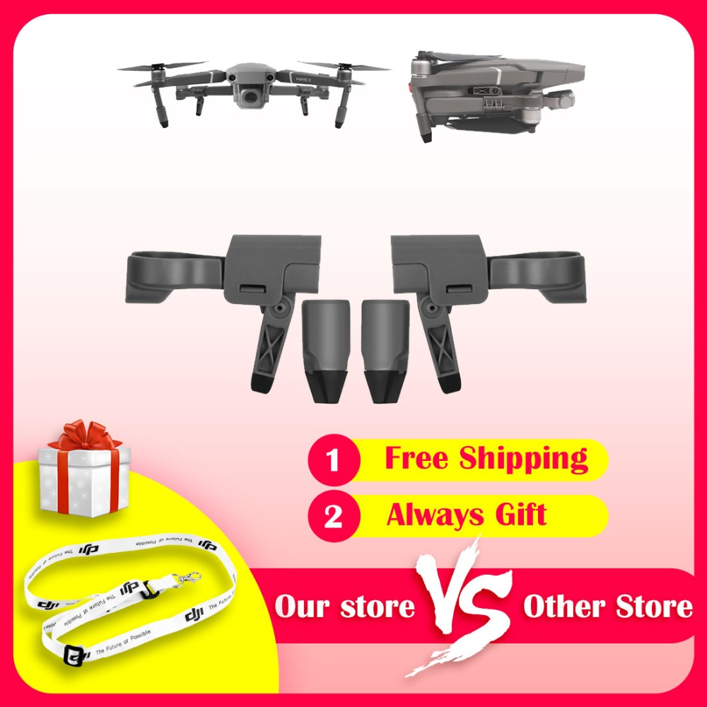 Folding Hightened Increased Landing Gear Foot Stool  Skids Stabilizers For DJI MAVIC 2 PRO/MAVIC 2 ZOOM Folded With The Drone
