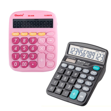 Free Shipping Paragraph No Voice Large Buttons Dual Power Solar Battery Powered Desktop Desk Digit Calculator GX-837