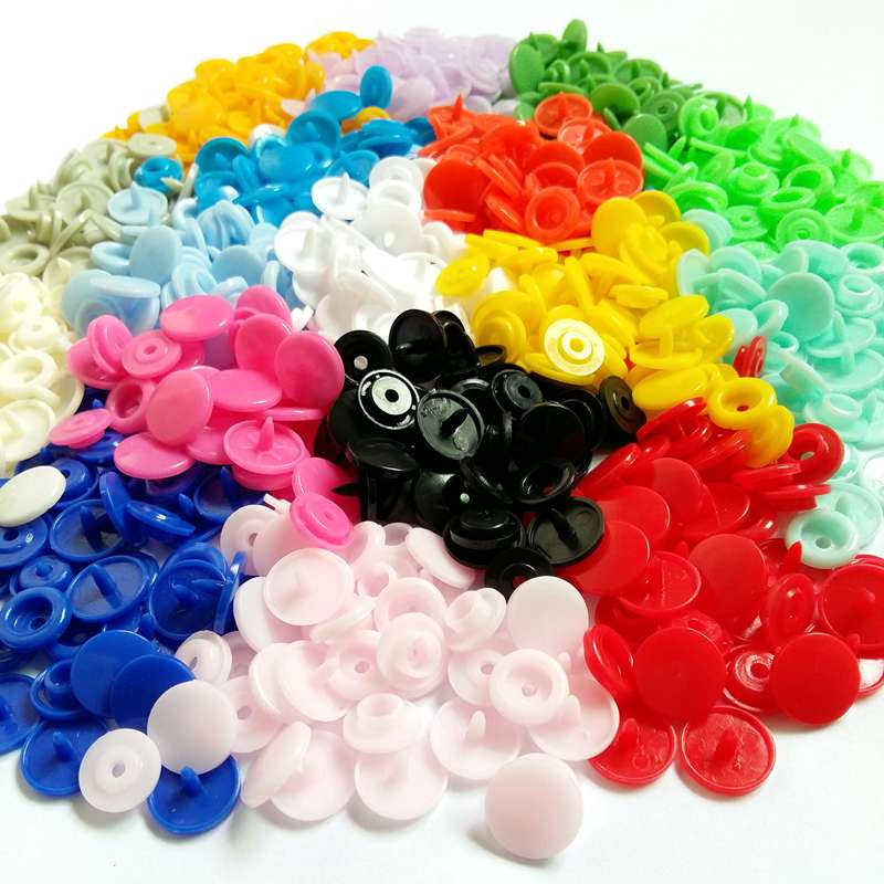 30-100set T5 Baby Resin Snap Buttons Plastic Snaps Clothing Accessories Press Stud Fasteners Poppers 20 Colors 1.2cm