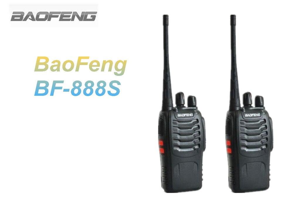 2 PCS BaoFeng Walkie Talkie BF 888S Black UHF 400 470MHz Ham Portable Two Way Radio