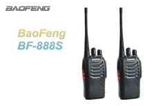 2 UNIDS BaoFeng Walkie Talkie BF-888 S Negro UHF 400-470 MHz Jamón 5 W 16CH portátil Radio de Dos Vías Con El Envío Libre En Moscú