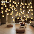 Meteor Meteoric Shower Rain Crystal Glass Magic Ball Lamp Fixtures Stairs Led Pendant Lamp Home Decorate for Dining/Living Room