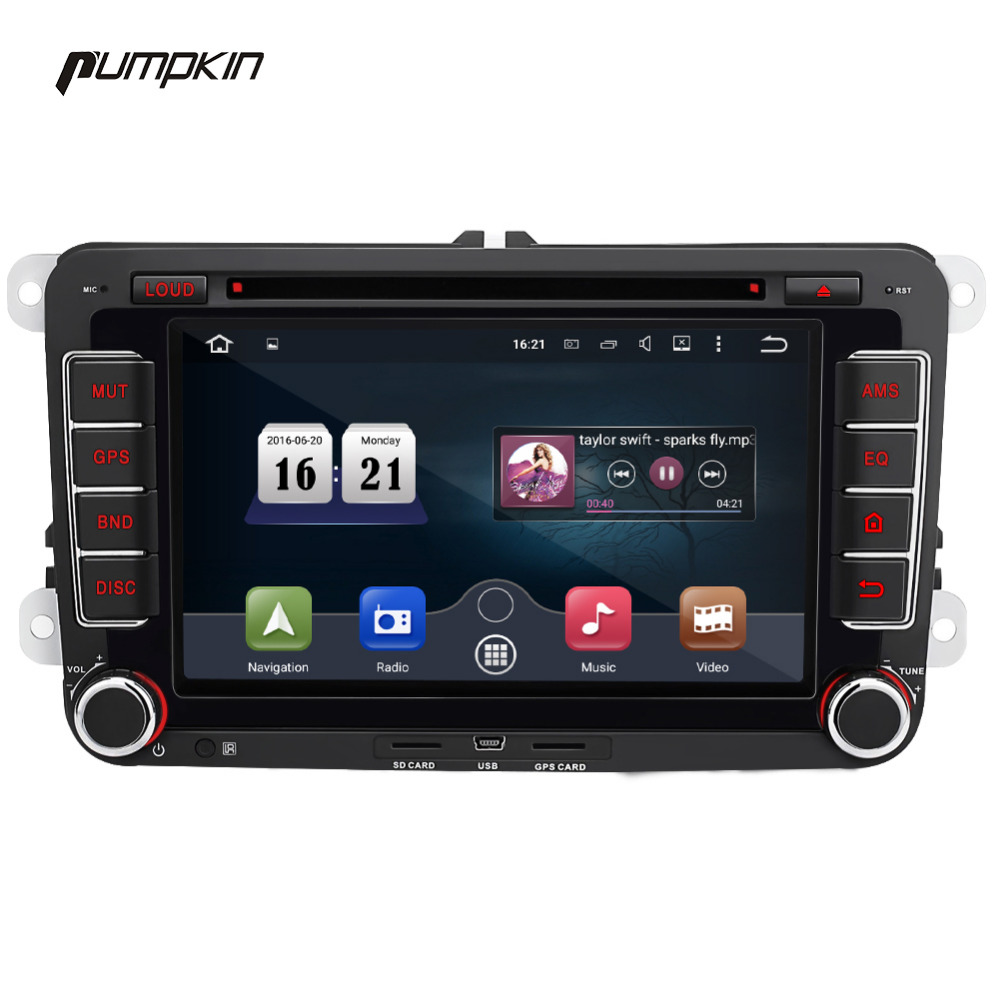 pumpkin android 5 1 two din car dvd player 7 inch gps. Black Bedroom Furniture Sets. Home Design Ideas