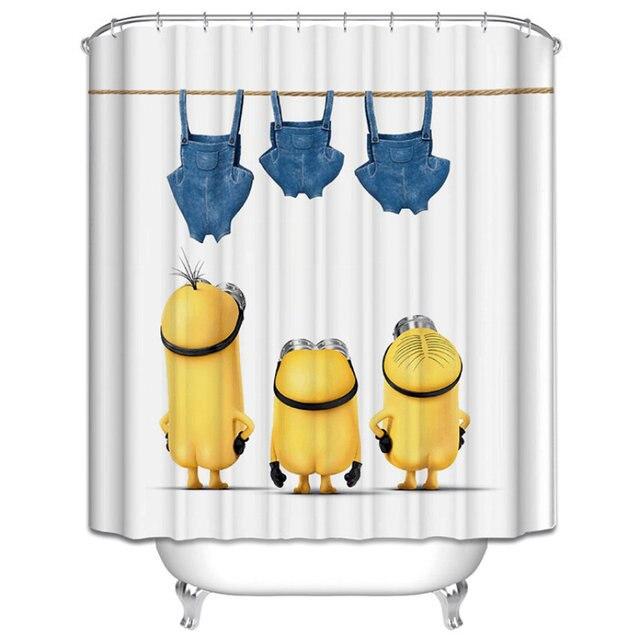 2017 Hohe Qualität Gelb/mickey/einhorn Bad Duschvorhang Vorhang Tina  Badezimmer Produkte Größe 180
