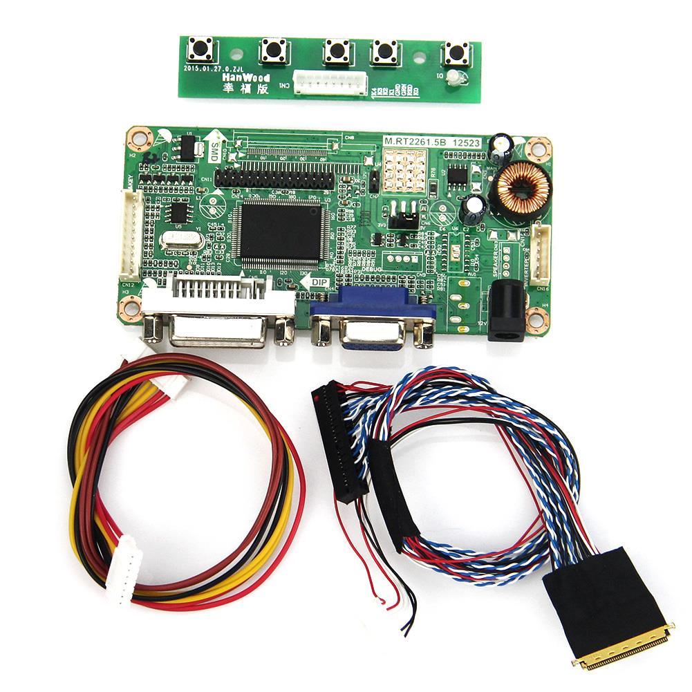 (VGA+DVI) M.RT2261 LCD/<font><b>LED</b></font> Controller Driver Board For LP156WF1(TL)(<font><b>F3</b></font>) B156HTN01.0 LVDS Monitor Reuse Laptop 1920&#215;1080