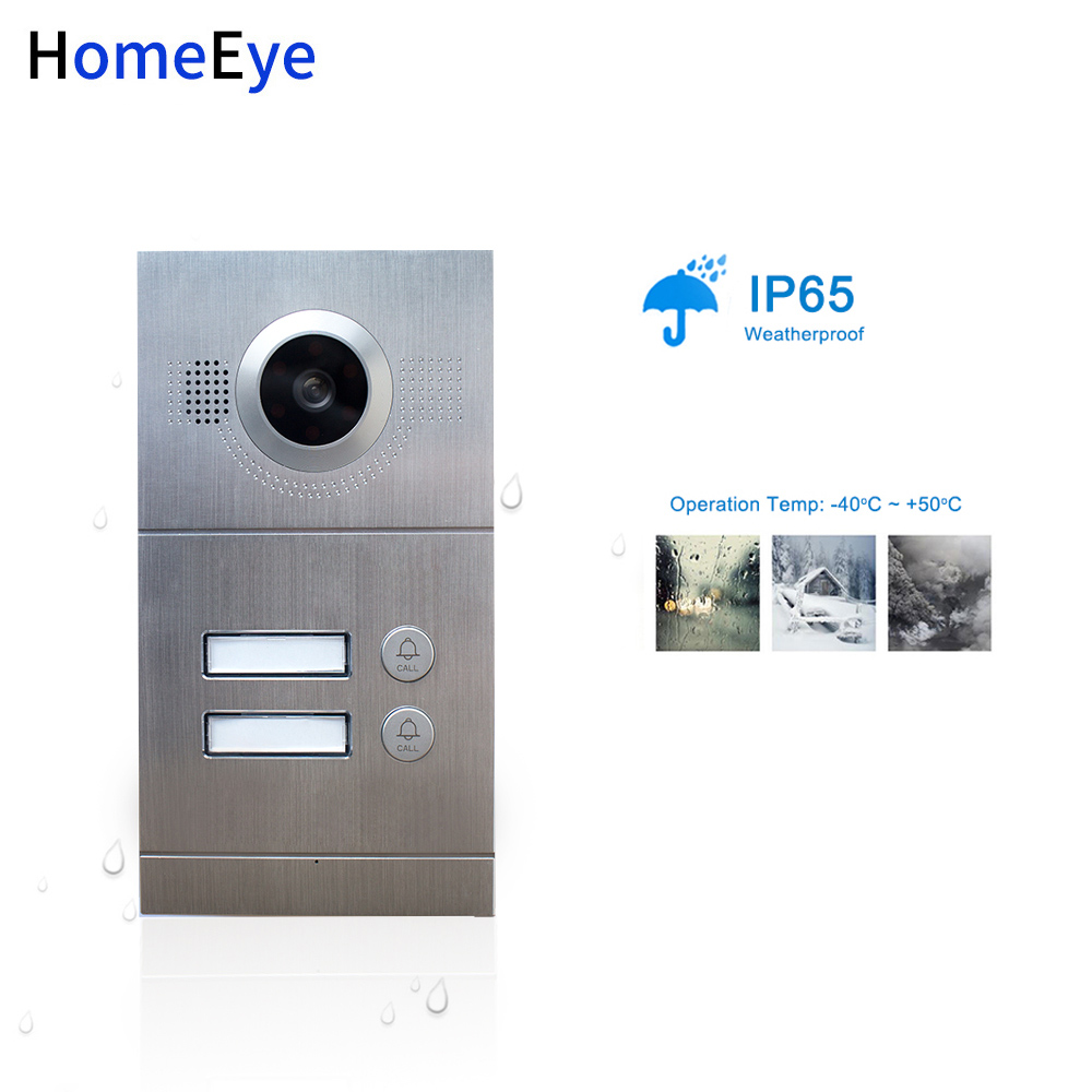 720P WiFi IP Video Door Phone Video Intercom 2-Apartments Door Access Control System iOS/Android APP Remote Unlock POE Supported