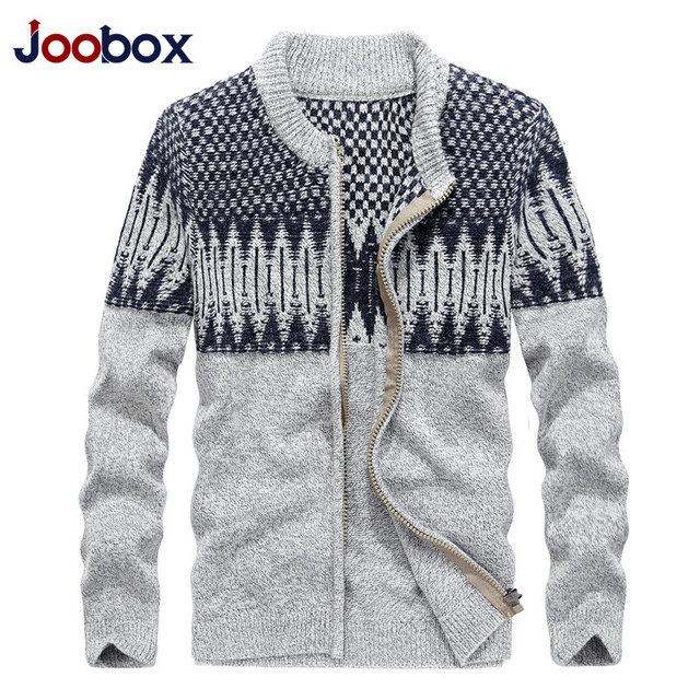 JOOBOX Brand 2017 High Quality Autumn Winter Fashion Mens Cardigan Sweaters Casual Coat Thick Knitwear Coat Men Korean Style