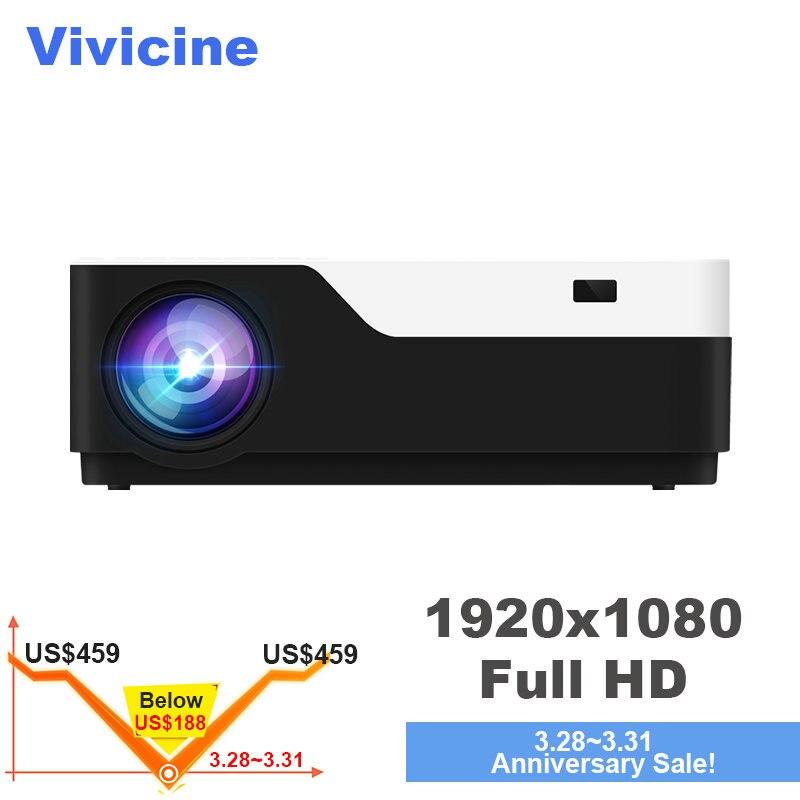 Vivicine M18 vidéoprojecteur full hd led, En Option Android 7.1 HDMI USB PC 1080 p Home vidéo multimédia projecteur de jeu Proyector Beamer
